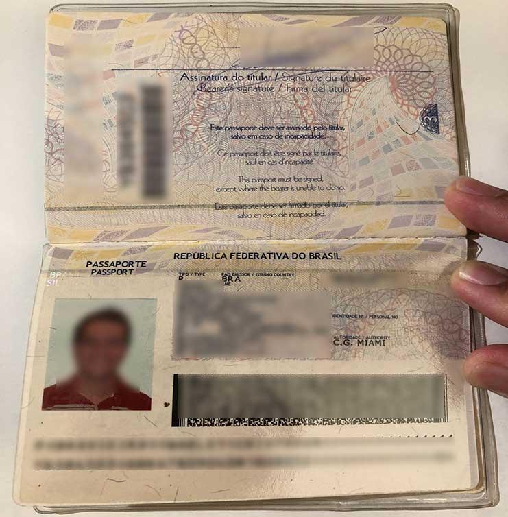 Exemplo Passaporte